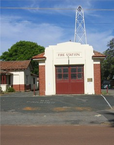 guildford fire station, a distant angle